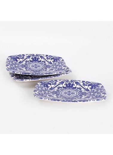 Keramika Keramika Anev Kobalt Kayık Tabak 19 Cm 3 Adet - 17670 Renkli